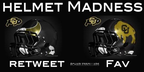 Colorado Buffs helmet madness round 3 set 5