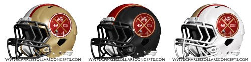 niners 3 helmet
