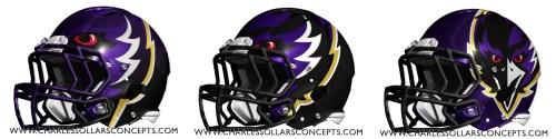 ravens 3 helmets