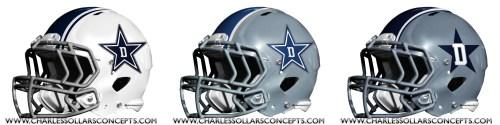 nfl 3 helmet cowboys