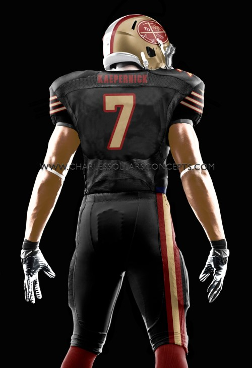 kaepernick back all black