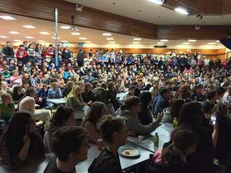 The entire school packed into the Hall on Friday