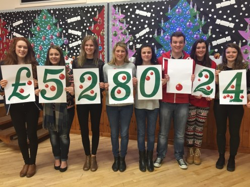 £5,280.24 has been raised for charity by pupils at Charleston Academy in 2014