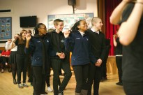Students going to Botswana next year led the ceilidh