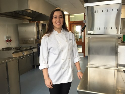 Leah in the Albert Roux Kitchen at Charleston Academy.
