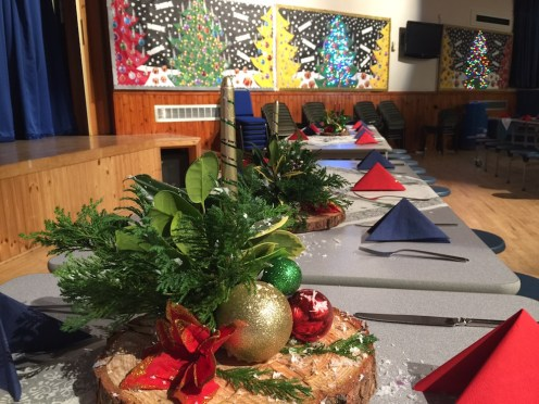 Tables decorated and set by our ASN Department (Mrs Grace Mackenzie & Mrs Rona Mackintosh