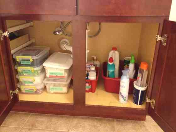 Organize under the bathroom sink - charleston crafted