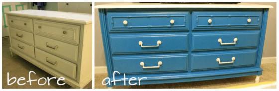 before after dresser makeover