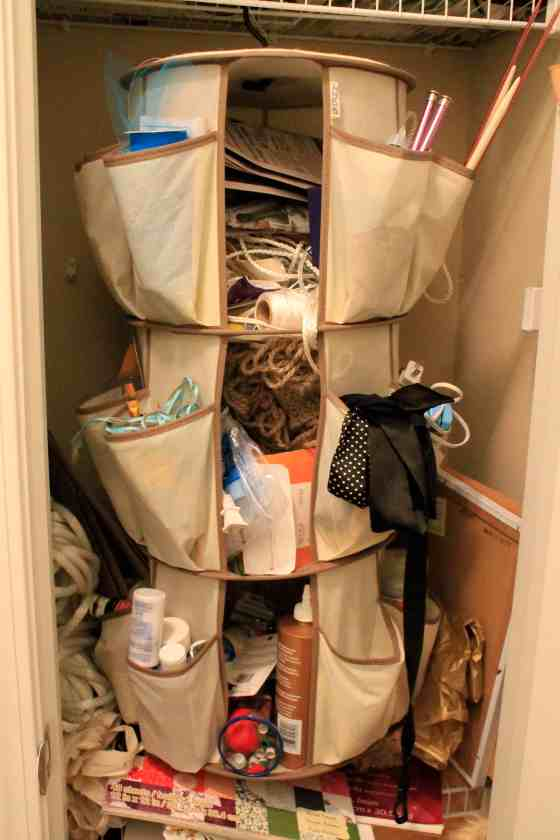 An Organized Craft Closet - Charleston Crafted