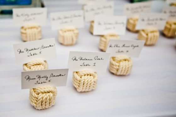 Monkey Knot Escort Cards - Charleston Crafted