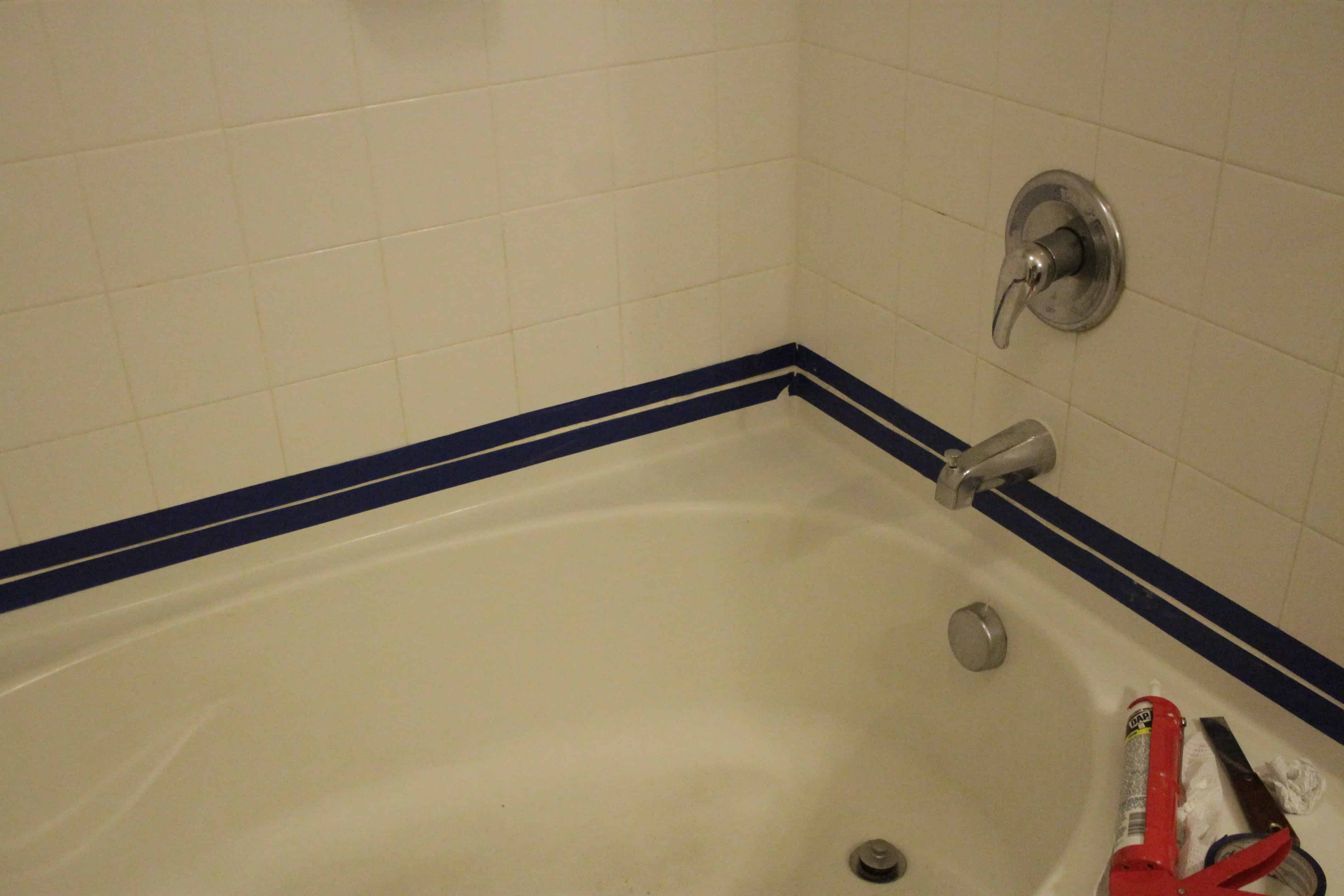 Best caulk for bathroom shower - Next Apply Caulk To The Seam We Had The Best Luck Making A Pulling Motion And Not A Pushing Motion In Other Words Squeeze Out The Caulk And Move The
