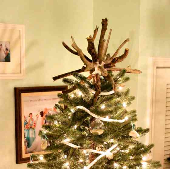 DIY Drift Wood Star Burst Tree Topper - Charleston Crafted