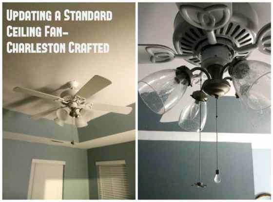 Updating a Standard Ceiling Fan - Charleston Crafted