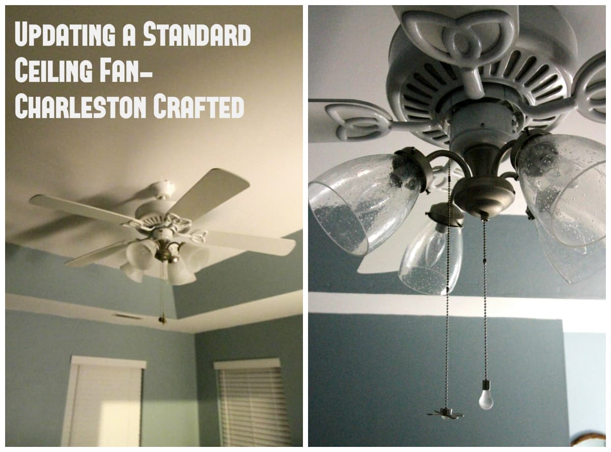 Updating a standard ceiling fan charleston crafted updating a standard ceiling fan charleston crafted mozeypictures Gallery