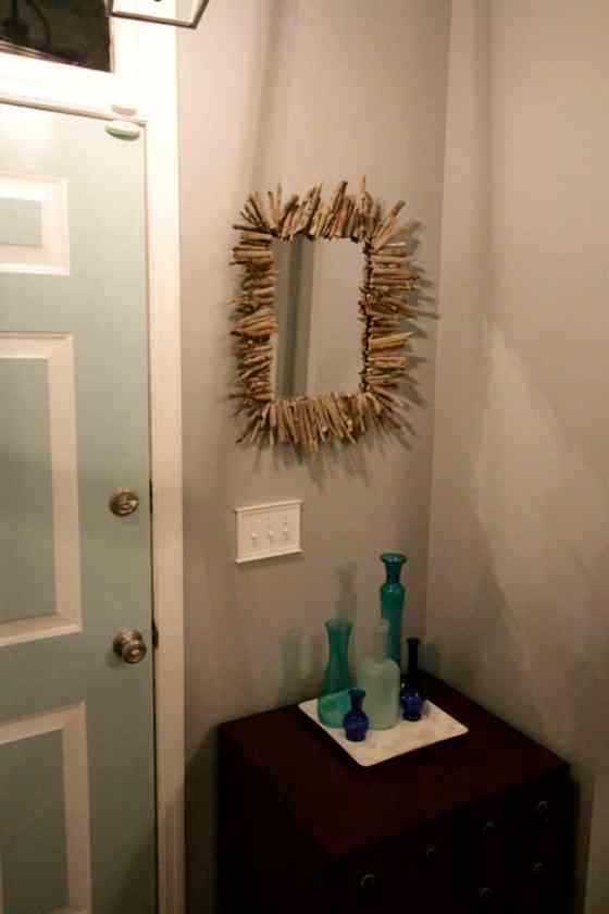 DIY Starburst Driftwood Mirror - Charleston Crafted