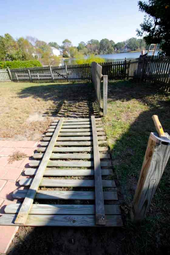 Removing the Dog Run - Charleston Crafted