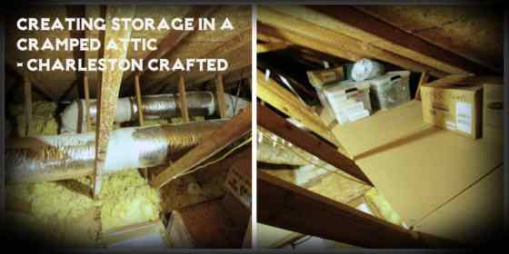 Creating Storage In A Cramped Attic Charleston Crafted