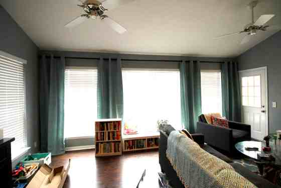 How to Make Windows Look Bigger (With Curtains) - Charleston Crafted