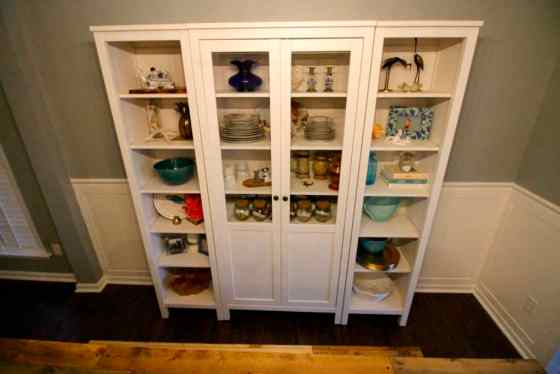 china cabinet ikea our new china cabinet set up ikea hemnes glass door 13551