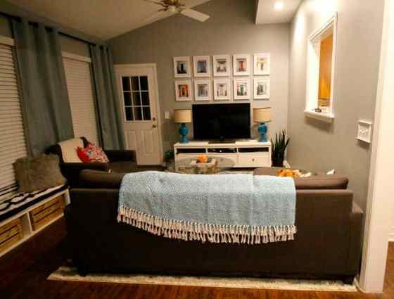 Mohawk Home Laguna Boardwalk Striped Woven Rug in the Sunroom - Charleston Crafted