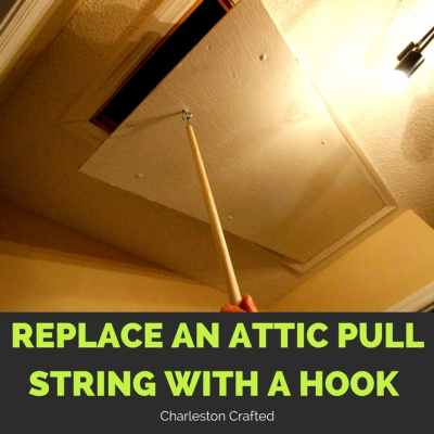 Replace an Attic Pull String with a Hook