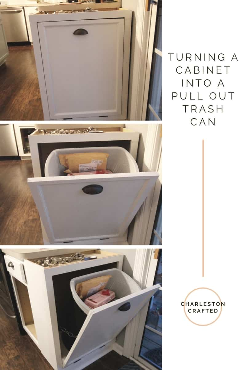 Design Trash Can Cabinet turning a cabinet into pull out trash can charleston crafted weve been having problem lately with cici getting our even though its locked attached to