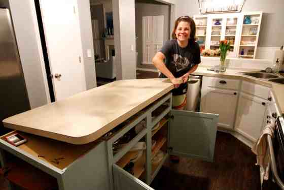 How to Remove Old Laminate Countertops & Backsplash Without Damaging the Cabinets - Charleston Crafted
