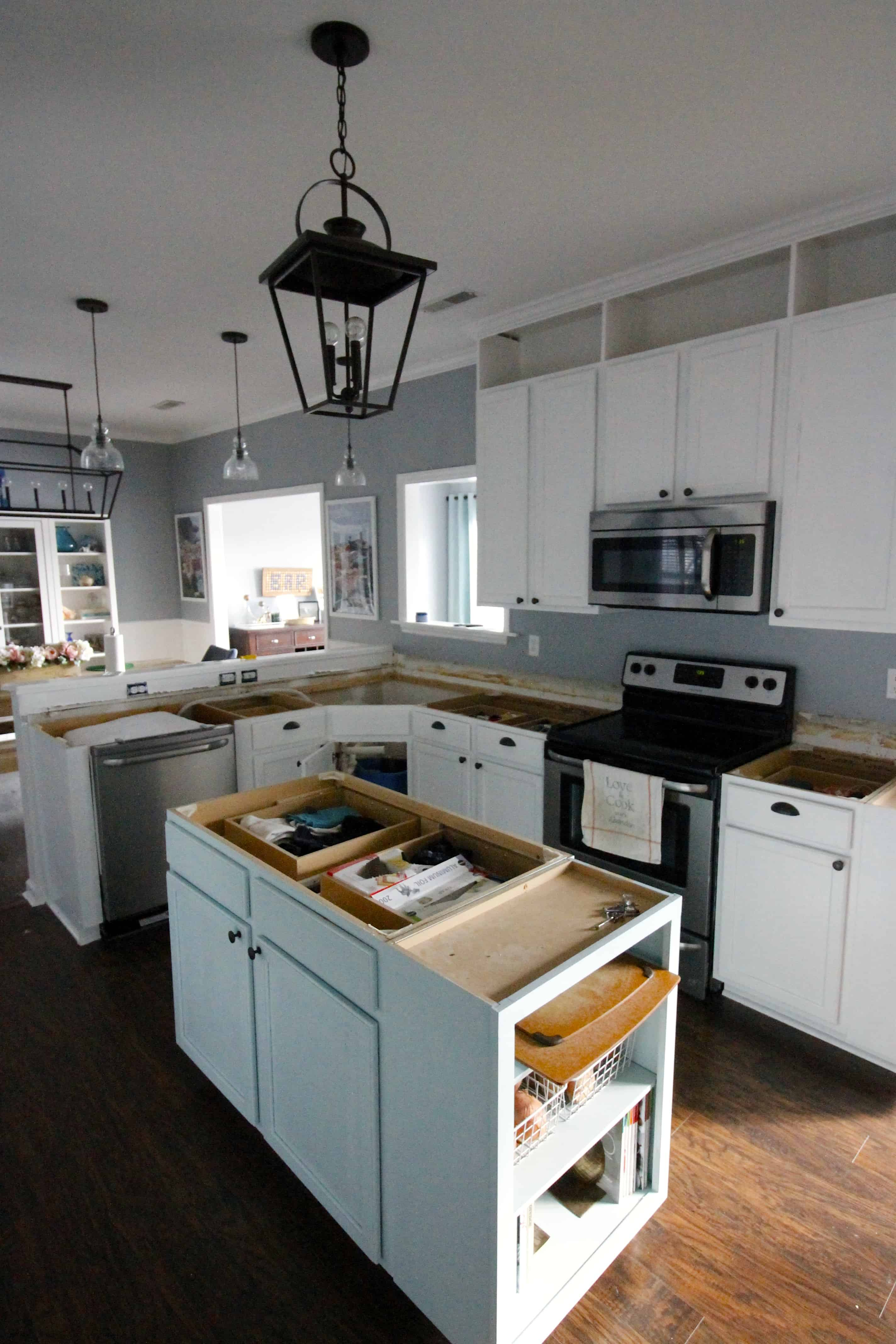 How to remove kitchen cabinets and countertops - Removing The Laminate Counters