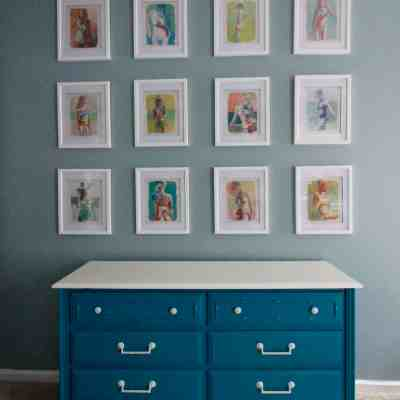 My Favorite Source for Inexpensive Gallery Wall Art – Calendars!
