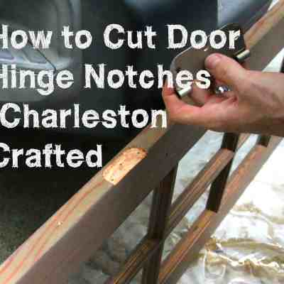 How to cut door hinge notches