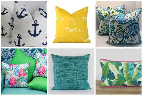 outdoor pillows under $25 - charleston crafted