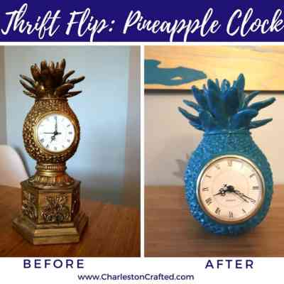 Thrift Flip: Pineapple Clock Makeover