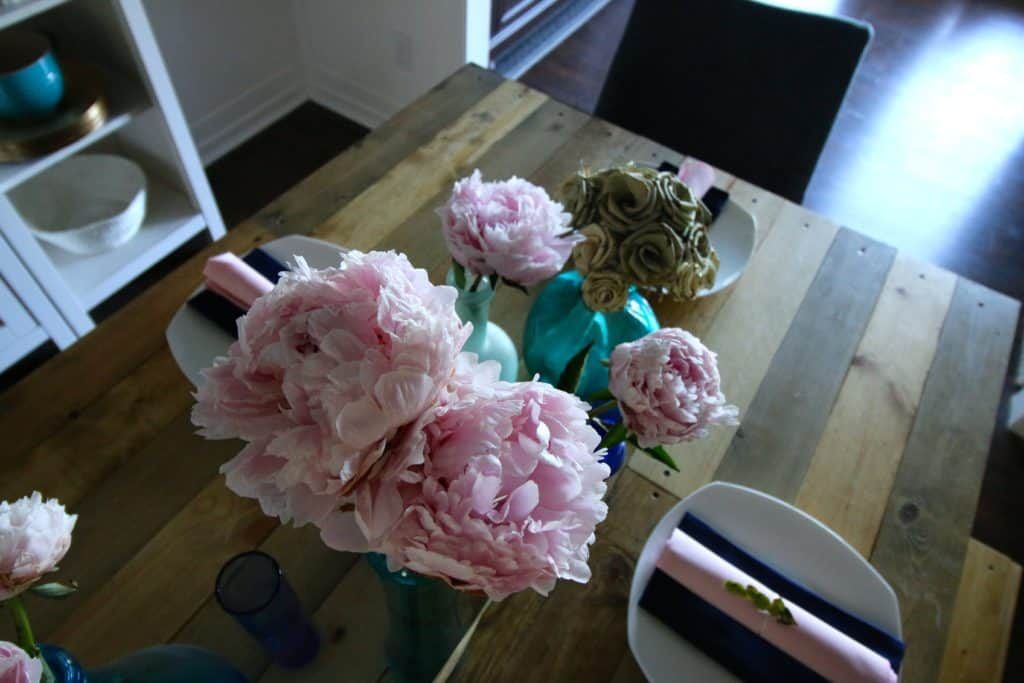 A Pink Peony & Seaglass Summer Tablescape - Charleston Crafted