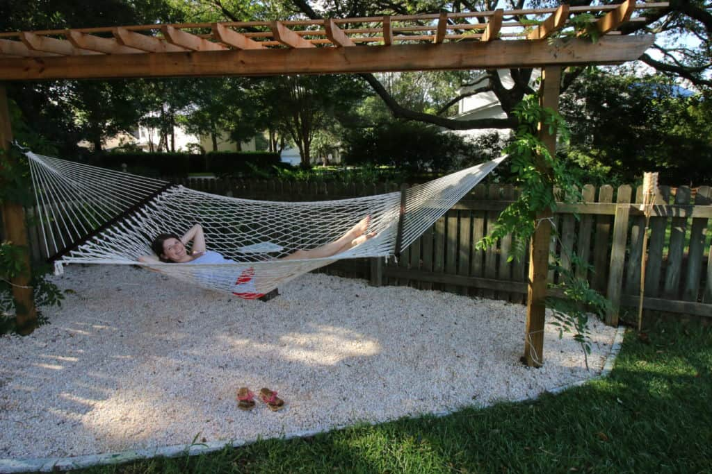 Our Tropical Oasis - A backyard Hammock area - Charleston Crafted