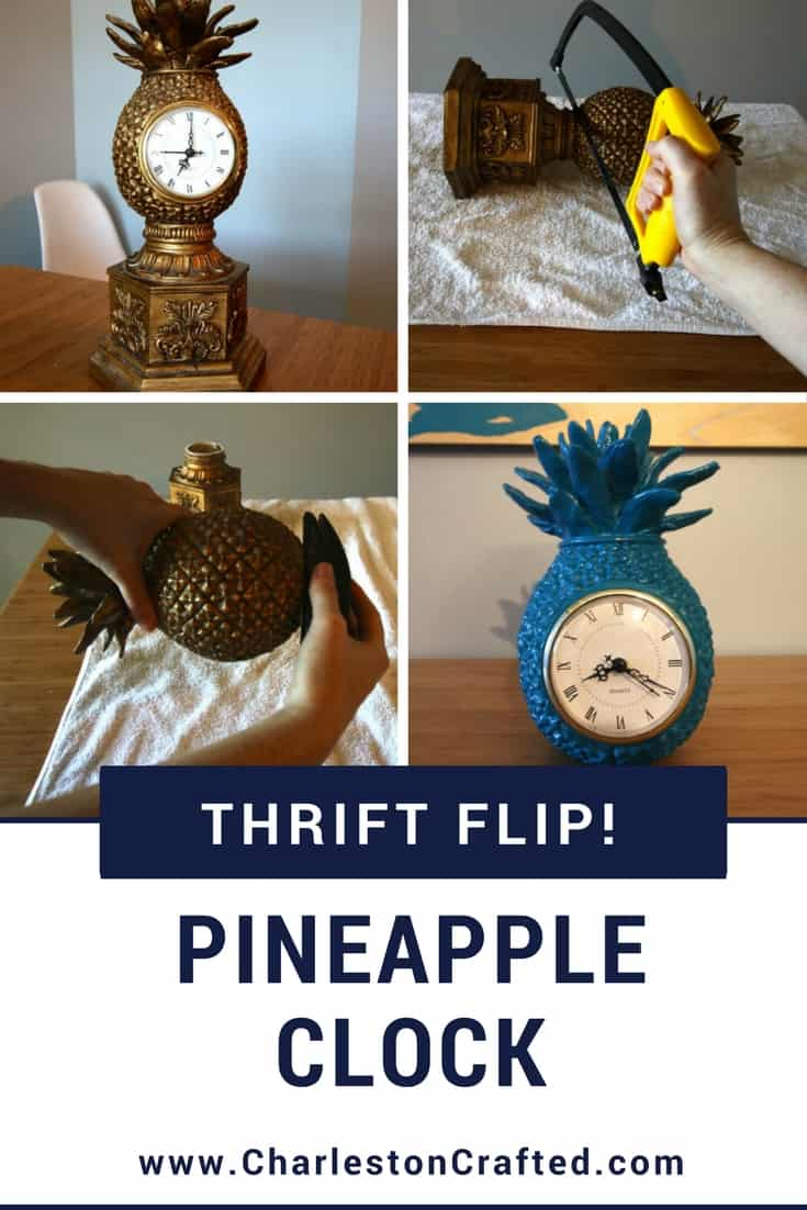 Thrift Flip Pineapple Clock Makeover Charleston Crafted