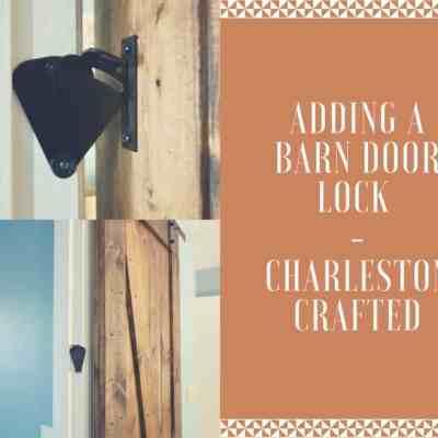 Adding a barn door lock