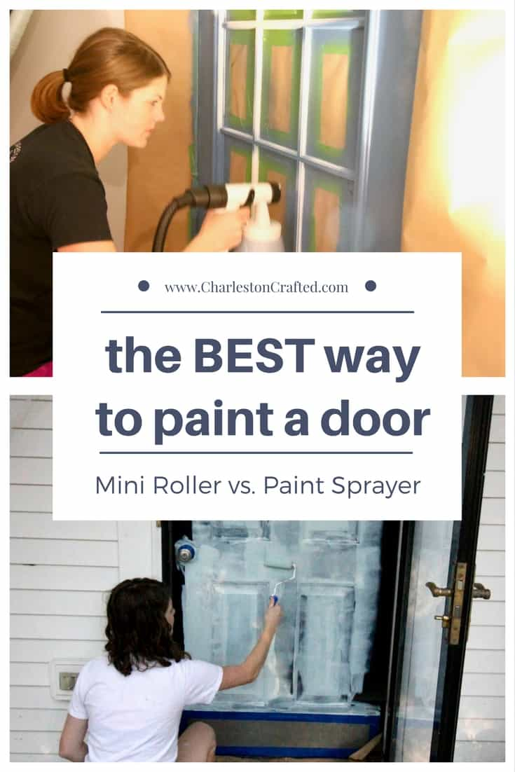 How To how to paint a door with a roller images : Which is the BEST Way to Paint a Door: Roller or Sprayer ...