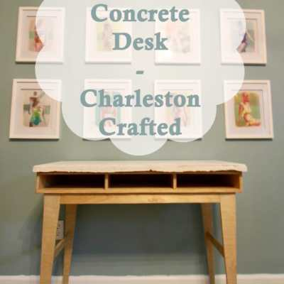 DIY Plywood Concrete Desk