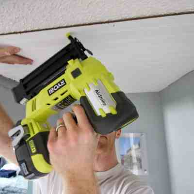 $100 Challenge: Cover Popcorn Ceilings with Beadboard