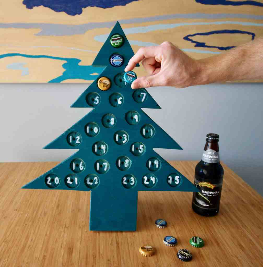 DIY Adult Advent Calendar via Charleston Crafted