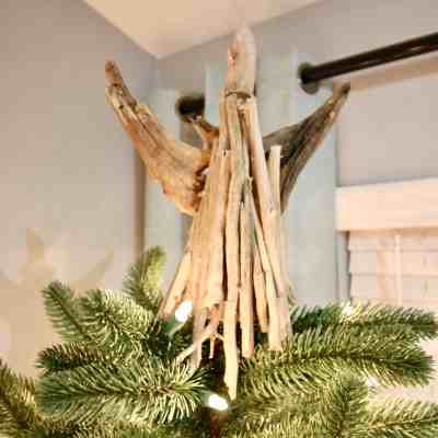 DIY Driftwood Angel Tree Topper