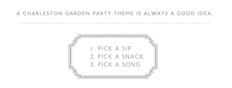 Host a Charleston Garden Party