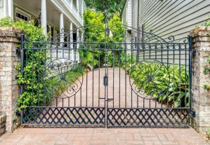 Entry gate to a Charleston Single House