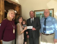family of Joe Stewart, a member of the Class of 1969, presented a gift from Stewart's estate to establish the Joseph W. Stewart Jr. Endowed Scholarship