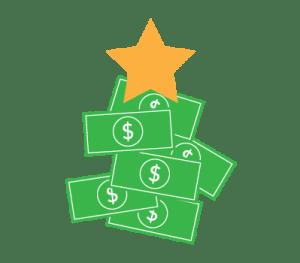 money shaped like a tree