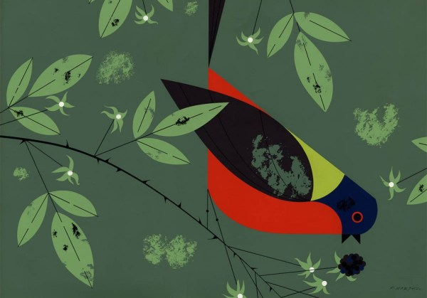 Painted Bunting   Charley Harper Prints   For Sale