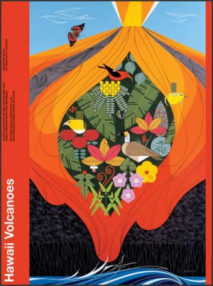 Hawaii Volcanoes 300 x 403 | Charley Harper Prints | For Sale