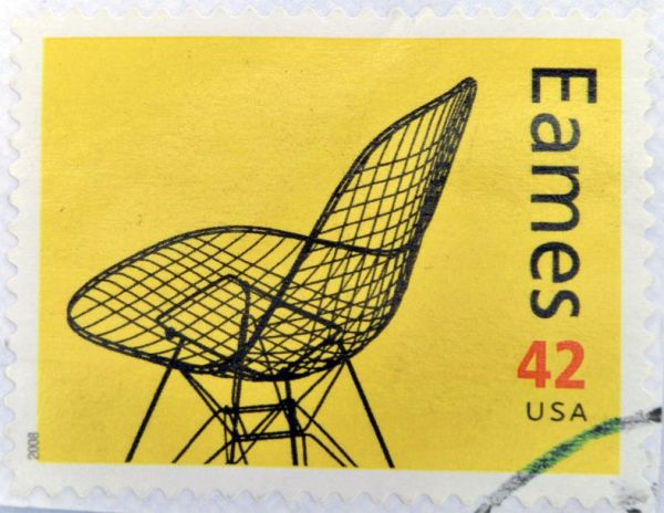 16306881 - united states of america - circa 2008: a stamp printed in usa shows eames chair, circa 2008