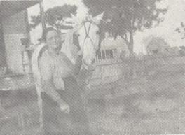 "Elizabeth Doggett Grider with Horse ""Killer,"" 1900, At Home near Crossroads, beyond Warren, Great Grand Aunt, ElizabethDoggettGrider-1900-A.jpg"