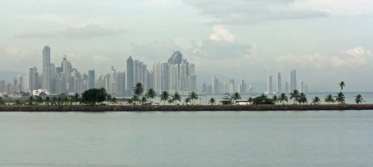 Panama City from the Canal